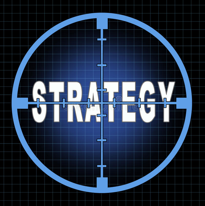 Strategy and focus vector illustration