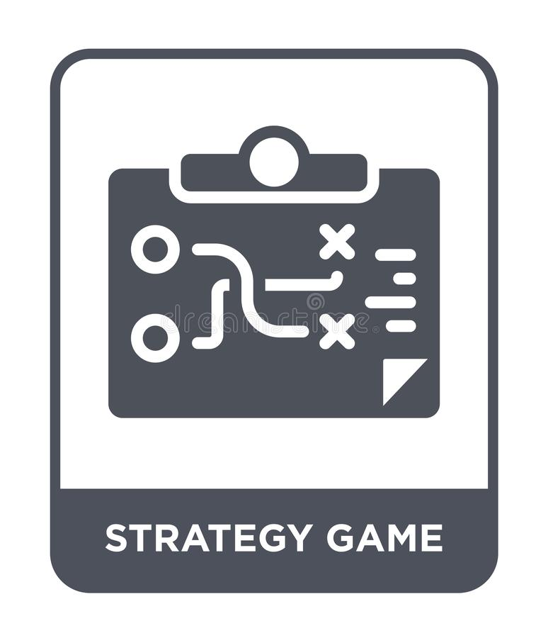 Strategy game icon in trendy design style. strategy game icon isolated on white background. strategy game vector icon simple and. Modern flat symbol for web vector illustration