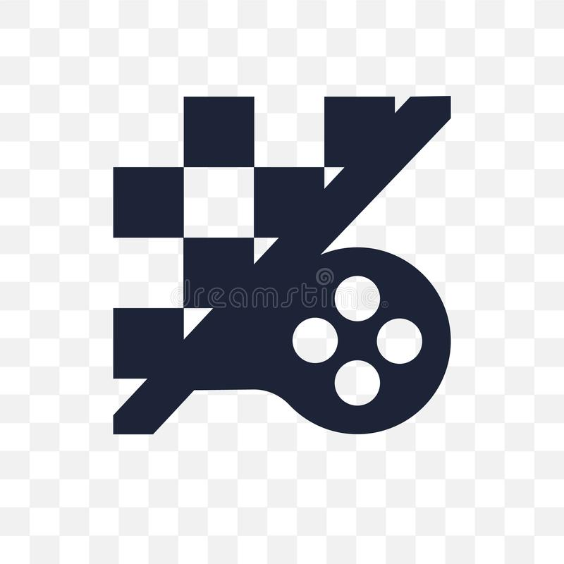 Strategy game transparent icon. Strategy game symbol design from royalty free illustration