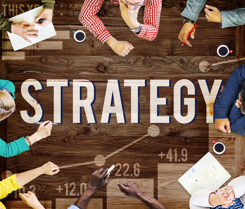Strategy Planning Plan Process Directing Growth Concept stock photography
