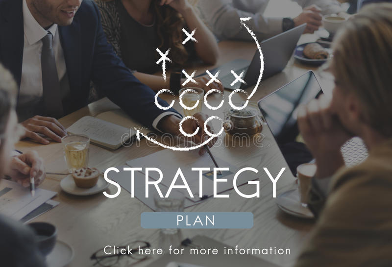 Strategy Planning Process Tactics Motivation Concept royalty free stock photos
