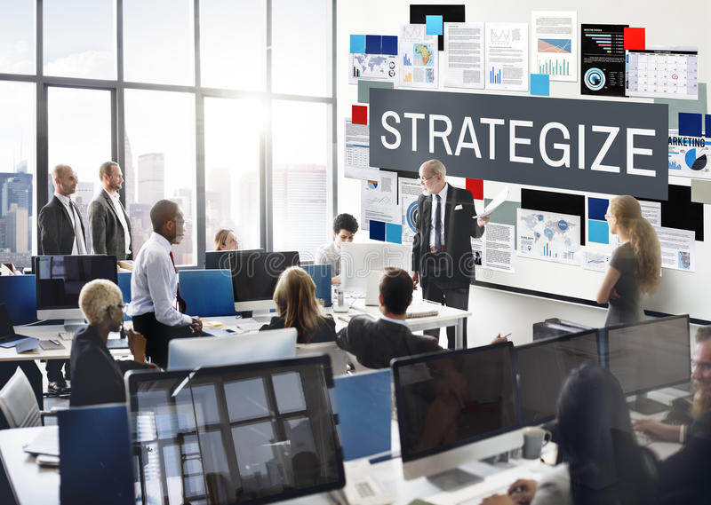 Strategy Strategize Strategic Tactics Planning Concept royalty free stock photography