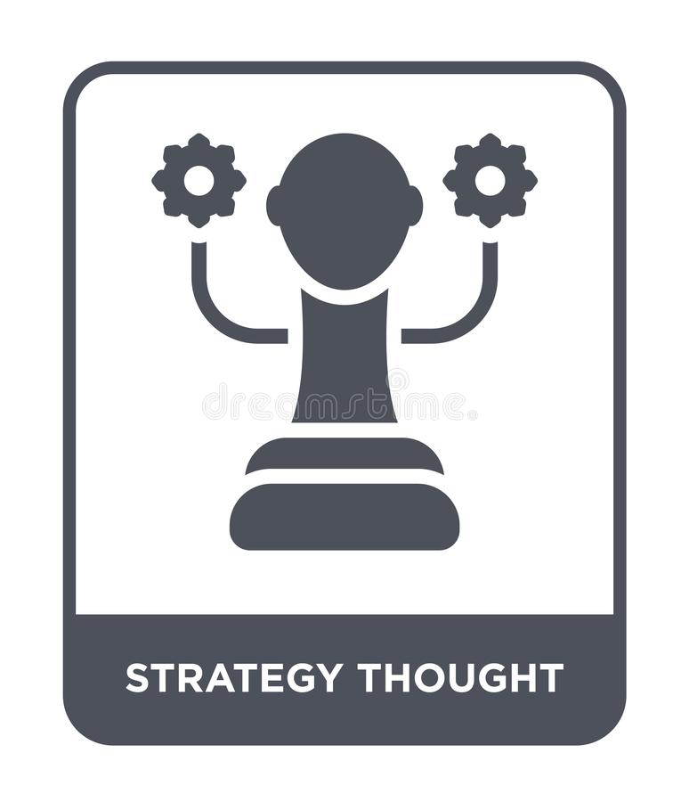 Strategy thought icon in trendy design style. strategy thought icon isolated on white background. strategy thought vector icon. Simple and modern flat symbol vector illustration