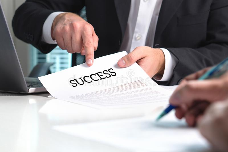 Strategy to success. Professional business man. Strategy to success. Professional business man and management consultant giving advice to entrepreneur with new stock images