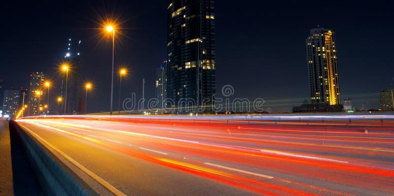Straten bij nacht stock foto