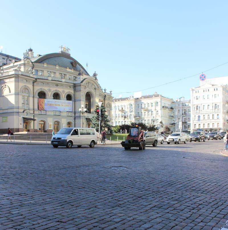 Straten en architectuur van Kiev royalty-vrije stock foto