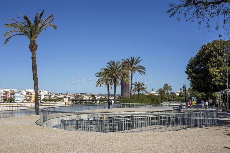 Straten en hoeken van Sevilla andalusia spanje royalty-vrije stock afbeelding