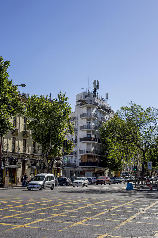 Straten en hoeken van Sevilla andalusia spanje royalty-vrije stock fotografie