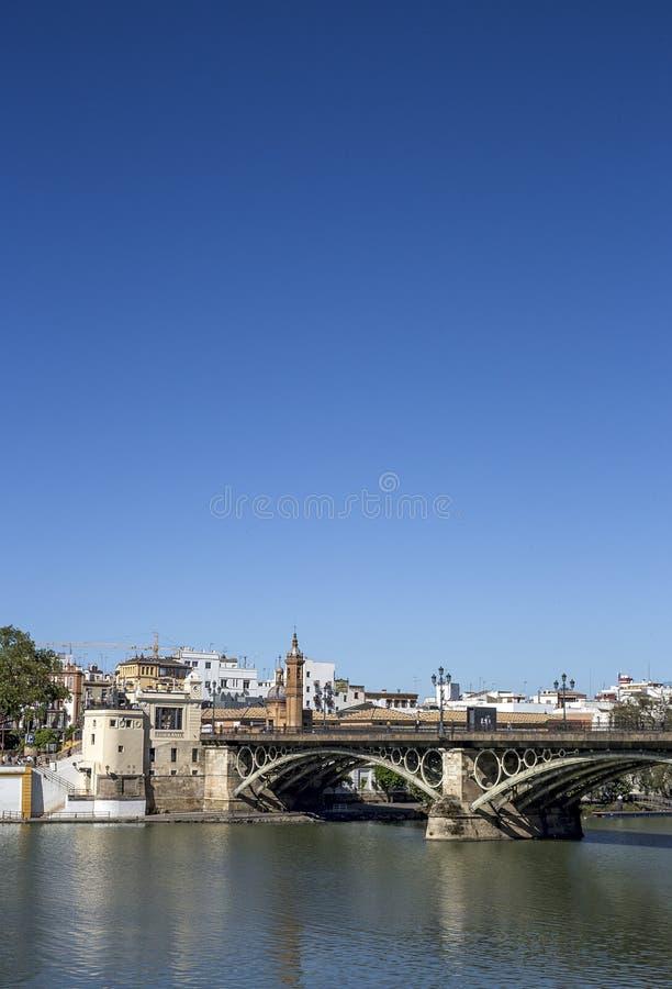 Straten en hoeken van Sevilla andalusia spanje stock foto's