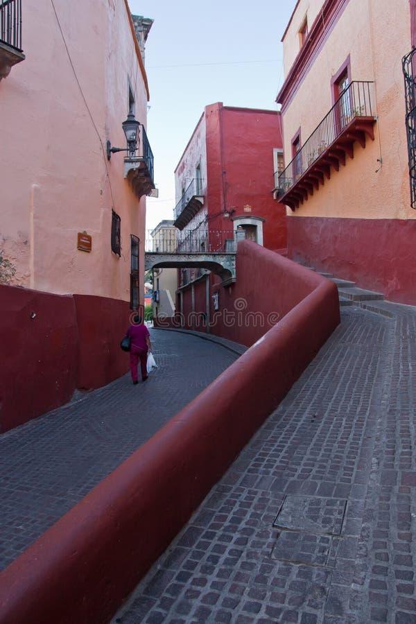 Straten in Guanajuato stock afbeeldingen
