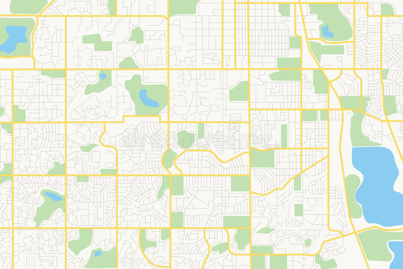 Straten op het plan - stad royalty-vrije illustratie