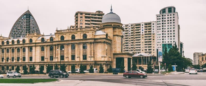 Straten van Baku stad royalty-vrije stock fotografie