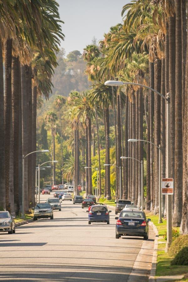 Straten van Beverly Hills in Californië royalty-vrije stock foto