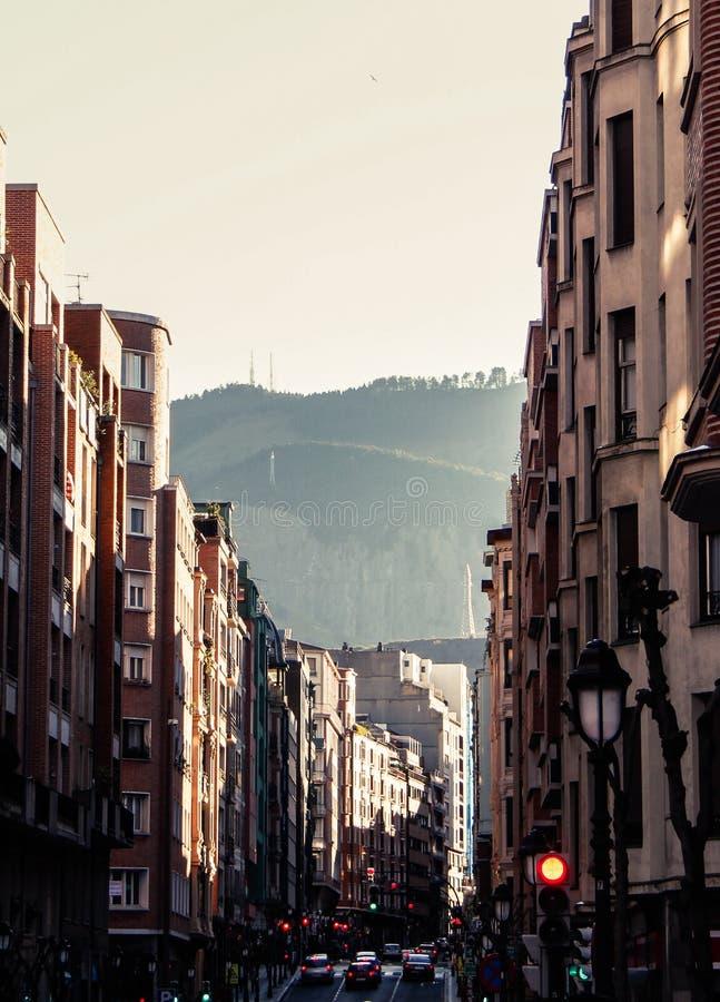 Straten van Bilbao stock foto