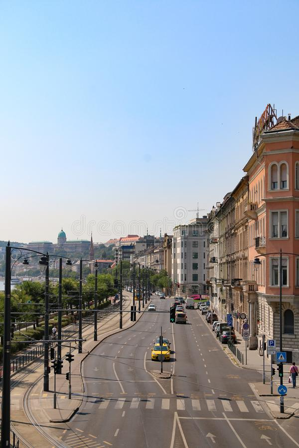 Straten van Boedapest Hongarije stock afbeeldingen