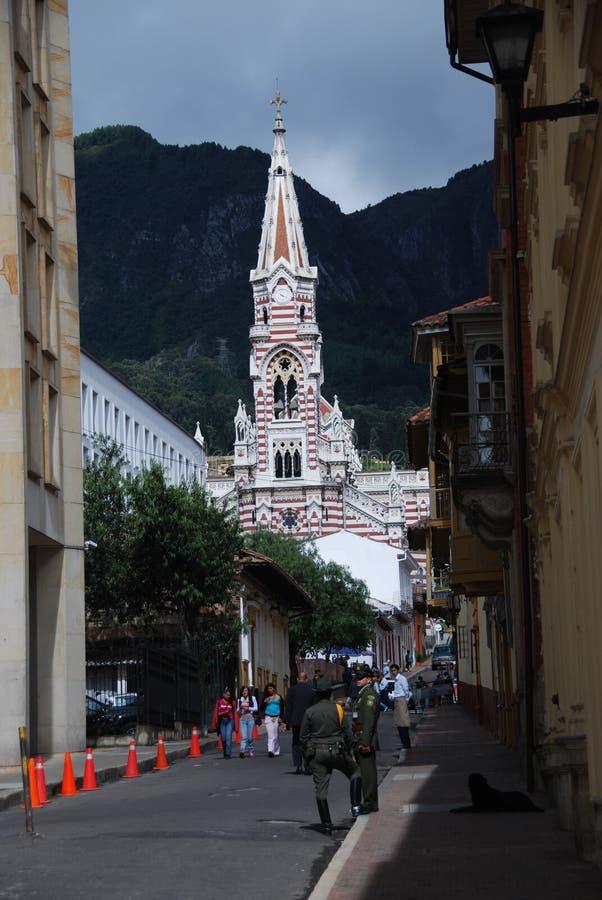 Straten van Bogota, Colombia stock foto's