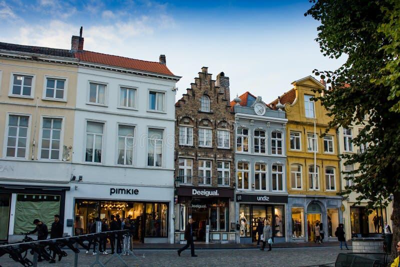 Straten van Brugge stock foto