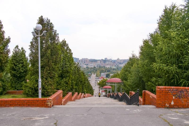 Straten van de stad van Belgorod royalty-vrije stock afbeelding