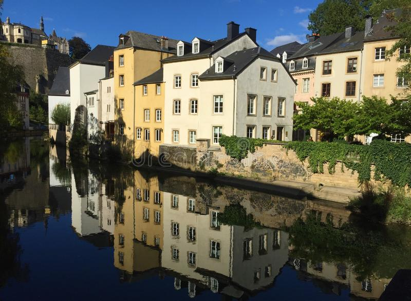 Straten van de stad en het land van Luxemburg royalty-vrije stock fotografie