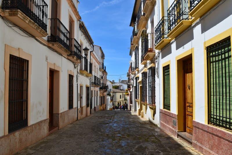 Straten van de stad van Ronda, Andalusia, Spanje royalty-vrije stock fotografie