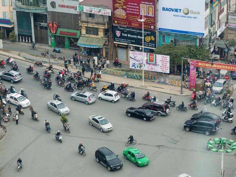 Straten van Hanoi stock fotografie