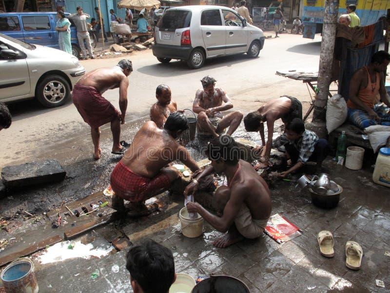 Straten van Kolkata stock fotografie