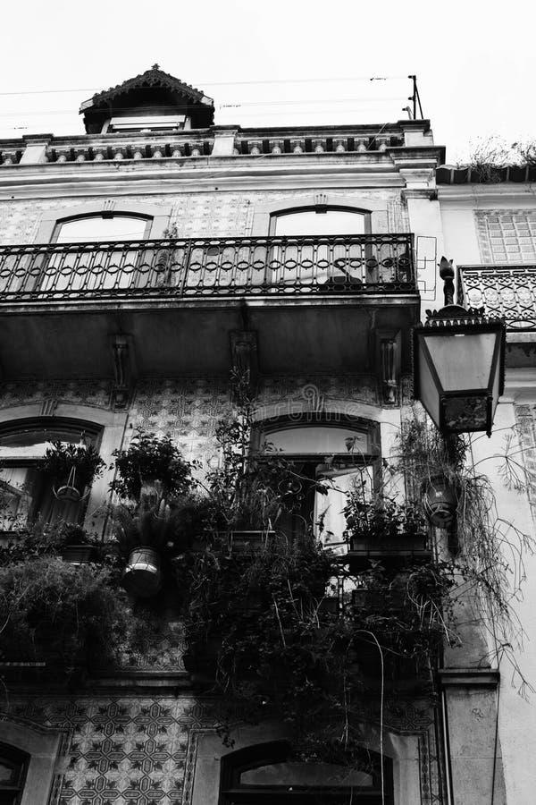 Straten van Lissabon Balkon royalty-vrije stock foto's