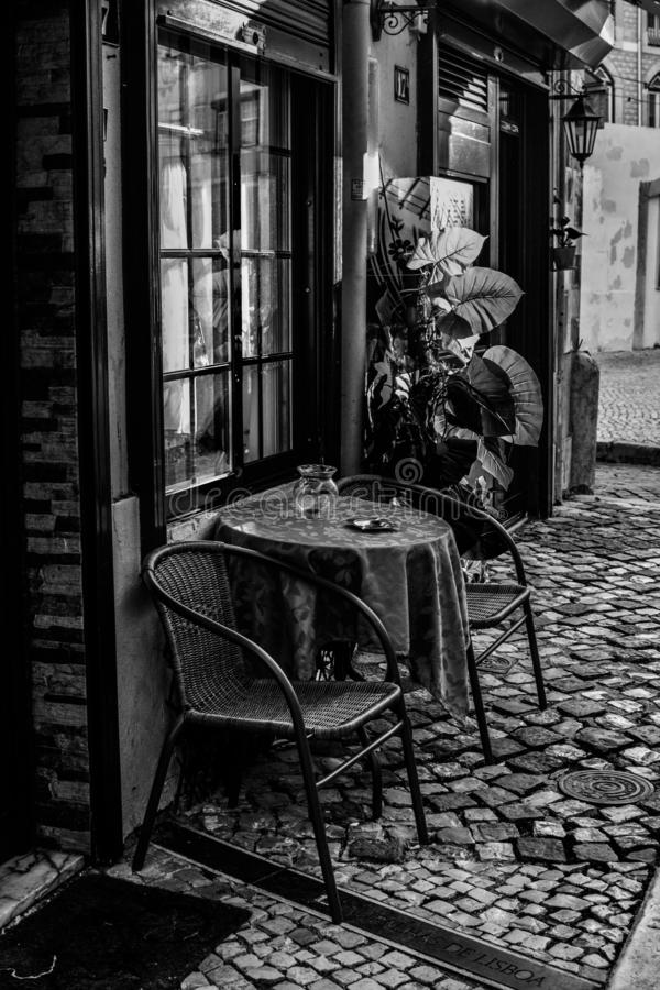 Straten van Lissabon Koffie royalty-vrije stock fotografie