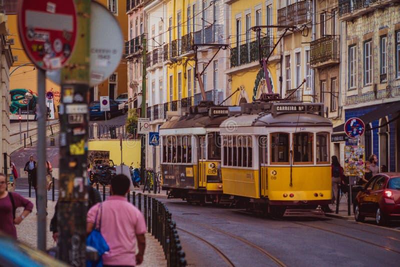 Straten van Lissabon, Portugal 3 stock foto's
