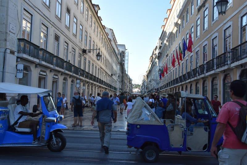 Straten van Lissabon in Portugal royalty-vrije stock afbeelding