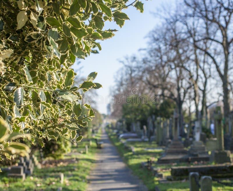 Straten van Londen, een begraafplaats royalty-vrije stock fotografie