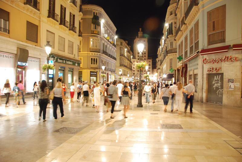 Straten van Malaga stock fotografie