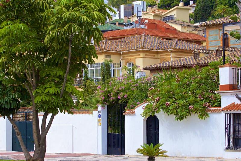 Straten van Malaga, Spanje stock foto's