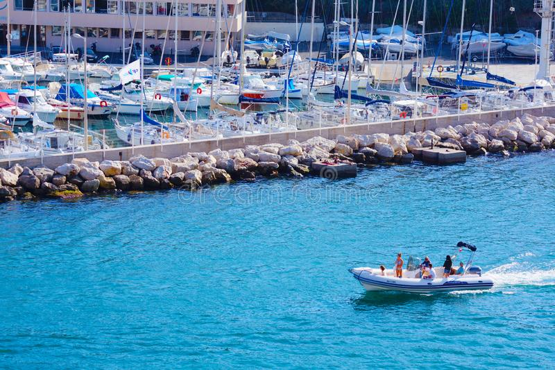 Straten van Marseille, Frankrijk stock fotografie
