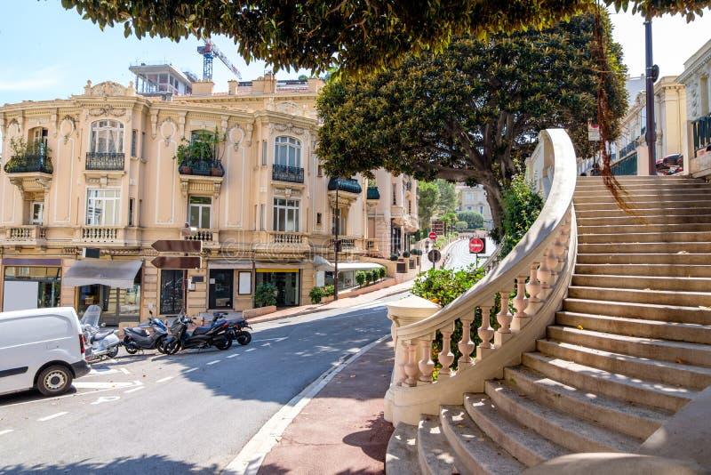 Straten van Monte Carlo bij daglicht royalty-vrije stock fotografie