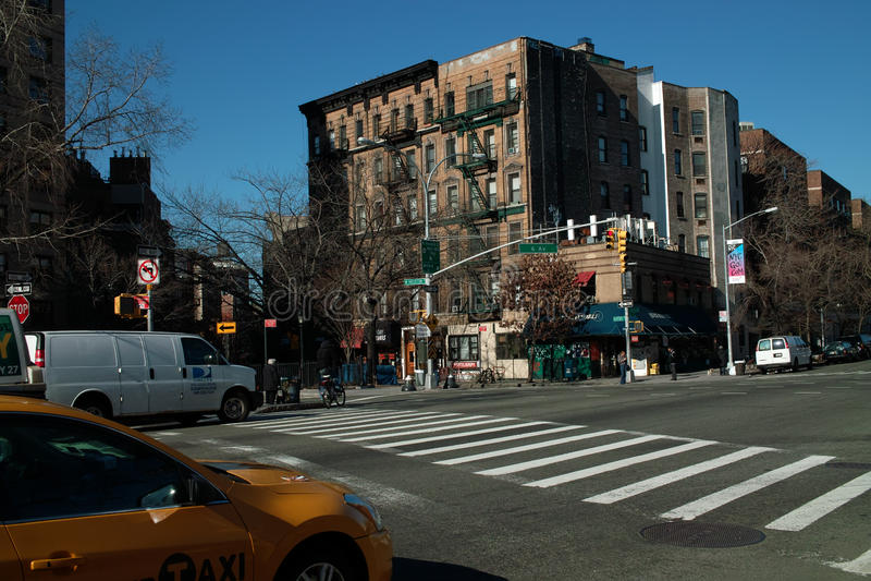 Straten van New York stock afbeeldingen