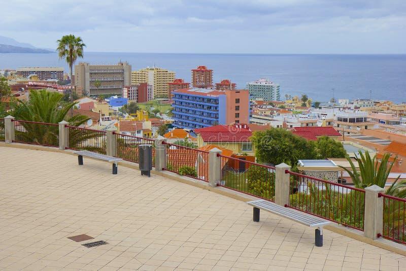 Straten van Puerto de la Cruz, Tenerife stock foto
