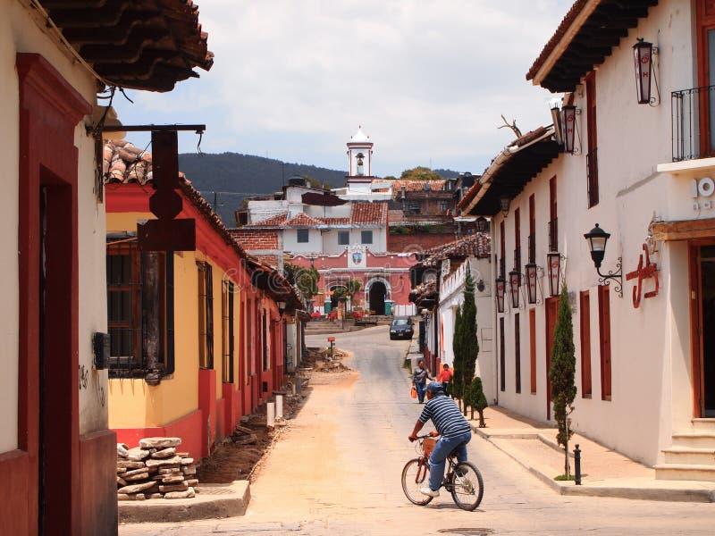 Straten van San Cristobal DE las Casas, vroegere hoofdstad van Chiapas, Mexico stock foto's