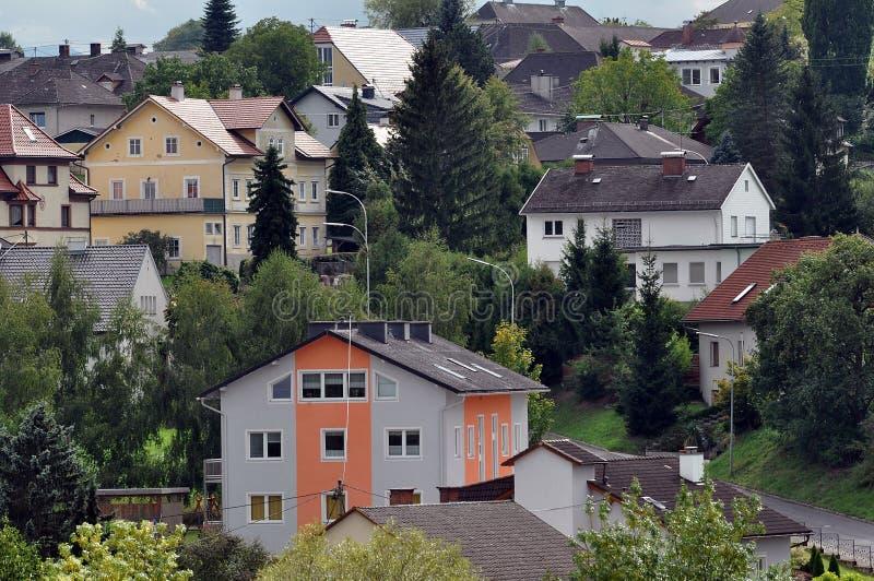 Straten van Slechte Zaal. Oostenrijk stock foto's