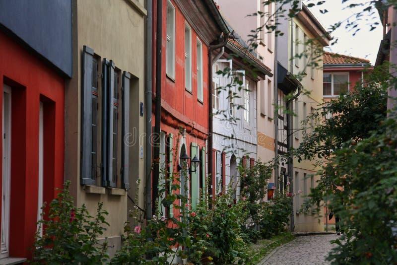 Straten van Stralsund stock afbeeldingen