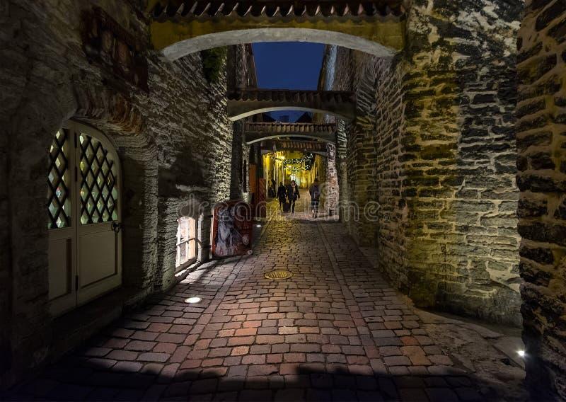 Straten van Tallinn Estland stock afbeelding