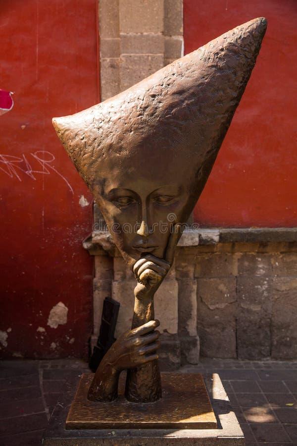 Straten van Tlaquepaque in Jalisco, Mexico royalty-vrije stock foto