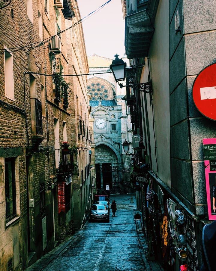 Straten van Toledo stock afbeeldingen
