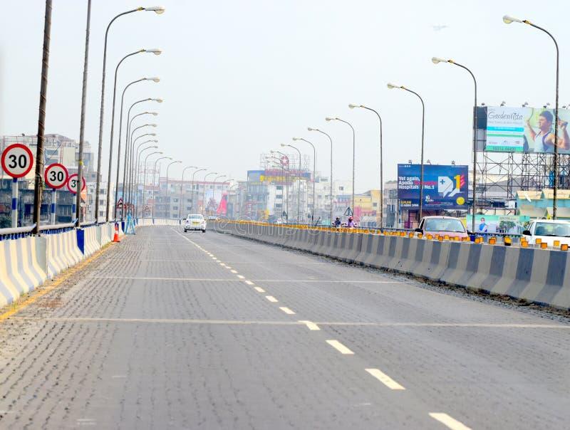 Stratenmening van Kolkata, de Ongelooflijke foto van India stock foto's
