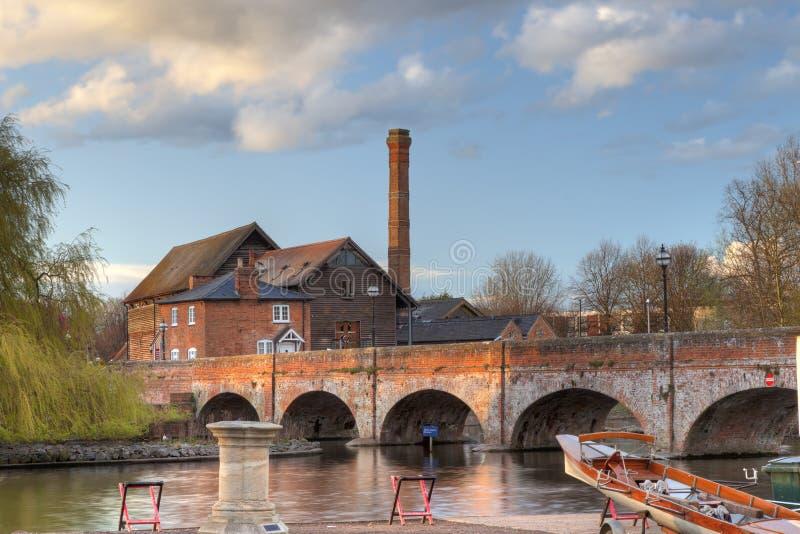 Stratford upon Avon. The old saw mill at Stratford upon Avon town centre, Warwickshire, England stock photo