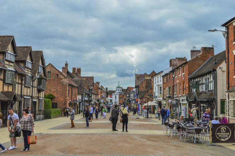 Stratford-upon-Avon English City Landscape and Skyline royalty free stock photo