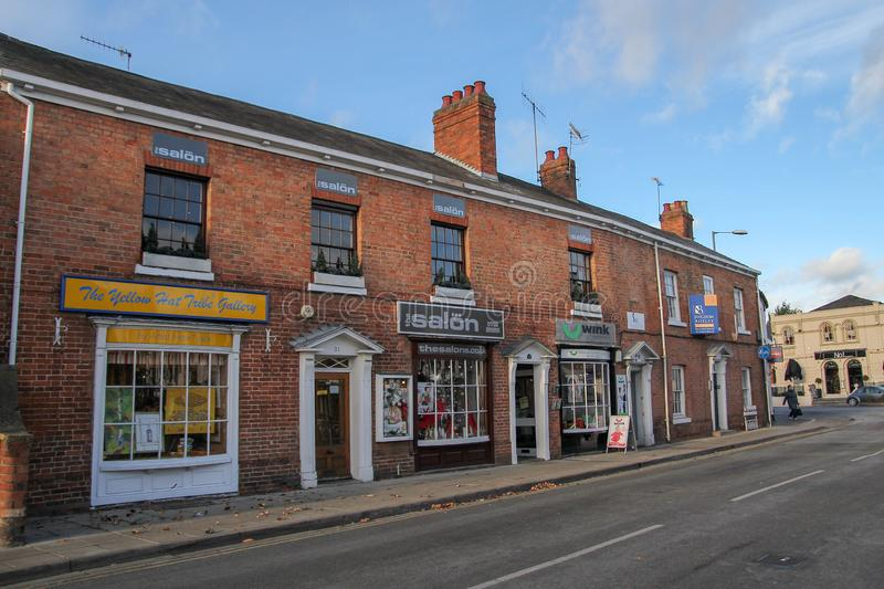 Stratford upon Avon, UK-December 5 ,2013 :Old village and buildings is most famous in the Stratford upon Avon because birthplace. stock image