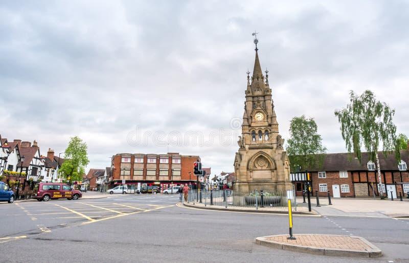 Stratford-Glockenturm lizenzfreie stockfotos