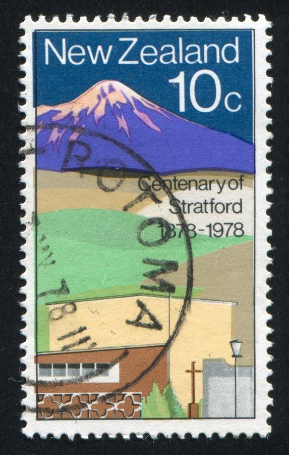 Stratford. NEW ZEALAND - CIRCA 1978: stamp printed by New Zealand, shows Stratford, circa 1978 royalty free stock photo