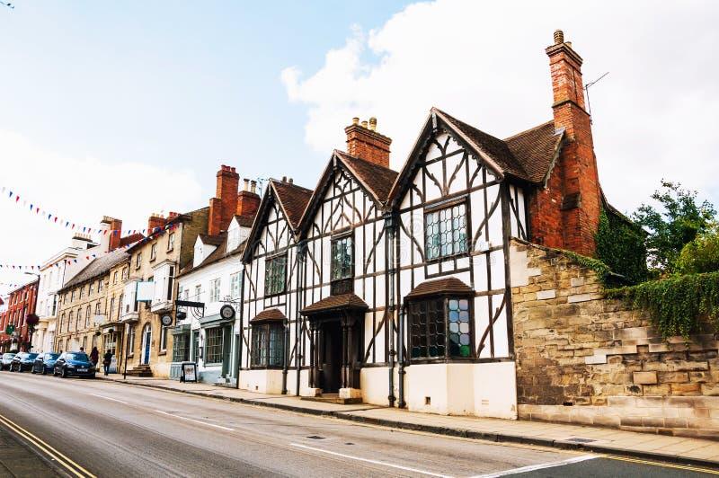 Stratford sobre Avon, Reino Unido Edificios históricos viejos fotos de archivo